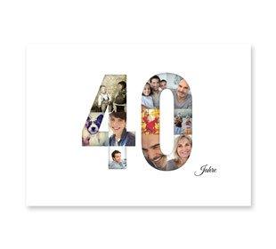 Geburtstagskarten - Einladungskarten 40. Geburtstag