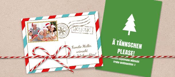 Weihnachtskarten selbst gestalten schneller versand - Weihnachtstexte lustig ...