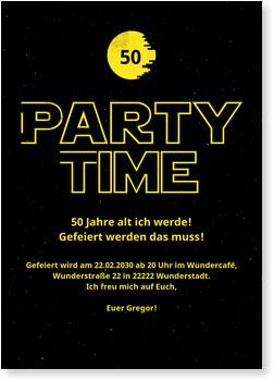 Einladungskarten 50. Geburtstag, Sterne