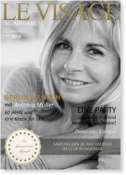 Einladungskarten 60. Geburtstag, Magazin - Le Visage