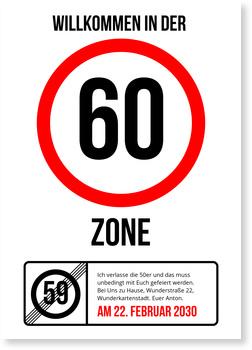 Einladungskarten 60. Geburtstag, Partyzone