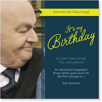 Einladungskarten 70. Geburtstag, Banderole