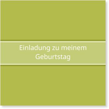 Einladungskarten 70. Geburtstag, Simpel in Grün