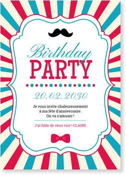 Carte Invitation Anniversaire 20 Ans