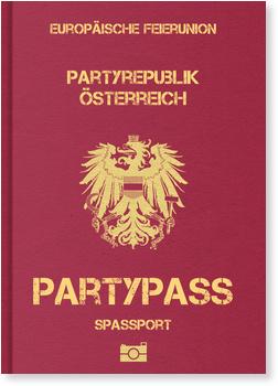 Einladungskarten 70. Geburtstag, Partypass