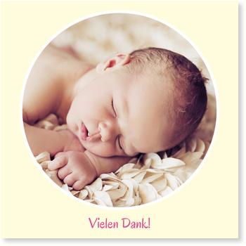 Dankeskarten Geburt, Fenster zum Glück - Crème