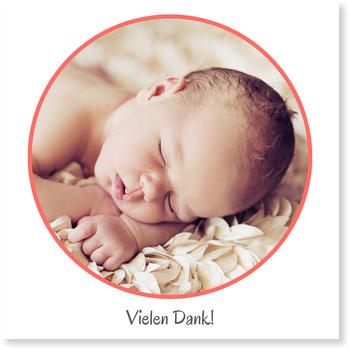 Dankeskarten Geburt, Fenster zum Glück