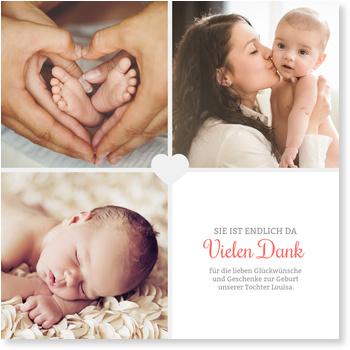 Dankeskarten Geburt, Unser kleines Herzchen