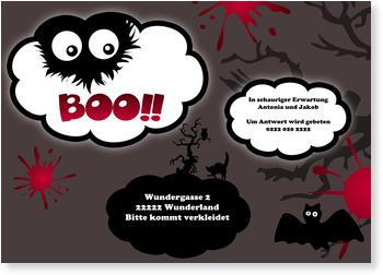 Einladungskarten Halloween , Boo!