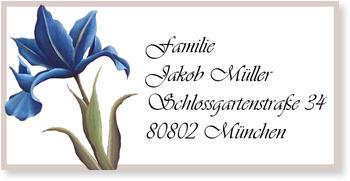 Adressaufkleber sonstiges, Blaue Lilie