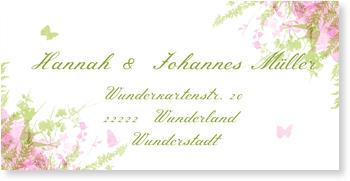 Adressaufkleber Hochzeit, Schmetterling