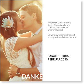 Dankeskarten Hochzeit, Ausgestanzt