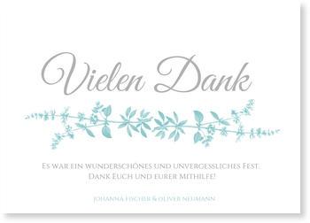 Dankeskarten Hochzeit, Botanisch