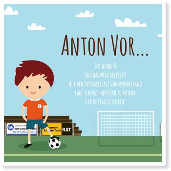 Einladungskarten Kindergeburtstag, Kleiner Fußballstar