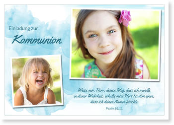 Einladungskarten Kommunion, Aquarell