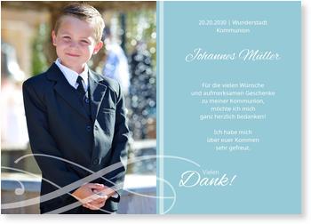 Danksagungskarten Kommunion, Schleife
