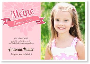 Einladungskarten Kommunion, Verspielte Banderole