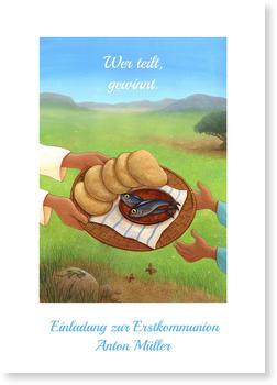 Einladungskarten Kommunion, Wer teilt gewinnt