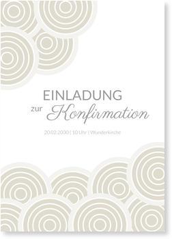 Einladungskarten Konfirmation, Wolkenreich in Grau