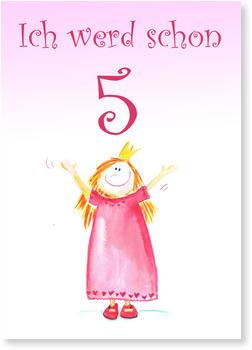 Kindergeburtstagskarten für Mädchen, Prinzessin hat Geburtstag