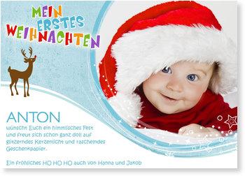Weihnachtskarten Baby, Kleiner Rudi