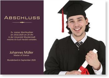 Einladungskarten Abschluss, Mein Abschluss