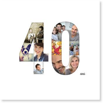 Carte invitation anniversaire 40 ans   bonnyprints.fr