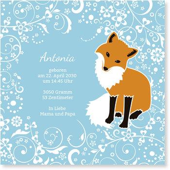 Geburtskarten, Fuchs