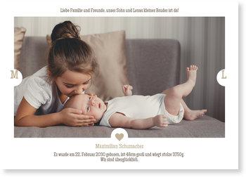 Geburtskarten, Kleines Herz