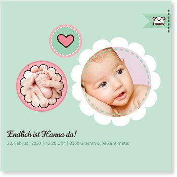 Geburtskarten, Kreise