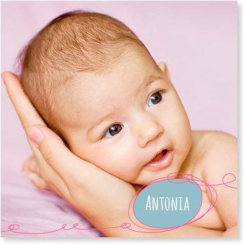 Geburtskarten, Kritzellinie