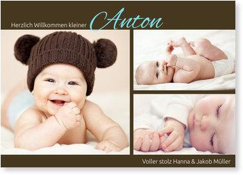 Geburtskarten, Pure Liebe in Braun
