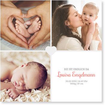 Geburtskarten, Unser kleines Herzchen