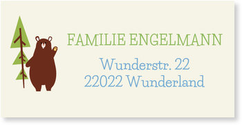 Adressaufkleber Baby, Waldfreunde