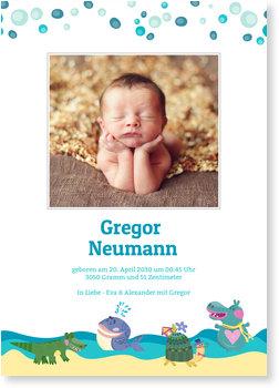Geburtskarten, Wassertiere