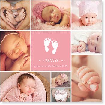 Geburtskarten, Zwei kleine Füße