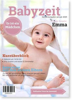 Geburtskarten, Babyzeit-Rosa