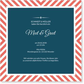 Einladungskarten geschäftlich, Meet and Greet