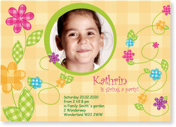 Birthday Invitations for your 1st - 111th Birthday, Flower Girl