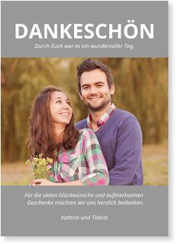 Allgemeine Dankeskarten, Unser Dankeschön - Grau