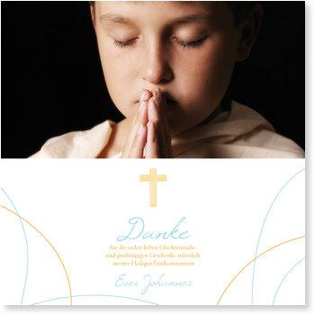 Danksagungskarten Kommunion, Meine Heilige Erstkommunion
