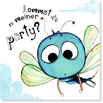 Einladungskarten Kindergeburtstag, Die kleine Libelle lädt zum Fest