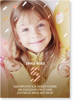 Einladungskarten Kindergeburtstag, Konfettiregen 5