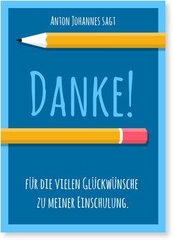 Danksagungskarten Einschulung, Kleiner Bleistift