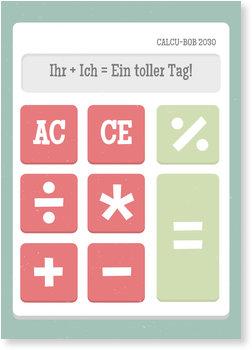 Danksagungskarten Einschulung, Taschenrechner