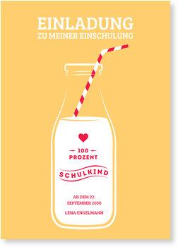 Einladungskarten Einschulung, Milchkind