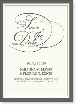 Save the Date Karten, Elegantes Beige