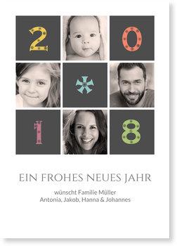 Neujahrskarten, Flockenzahlen