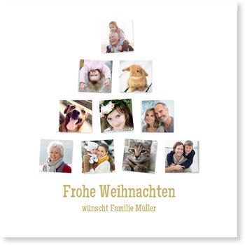 Aktuelle Weihnachtskarten, Foto - Tannenbaum