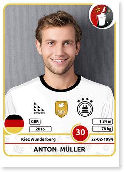 Einladungskarten Geburtstag, Fussball Sticker